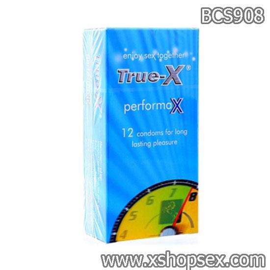 Bao Cao Su True-X-PerforMax 12s kéo dài thời gian