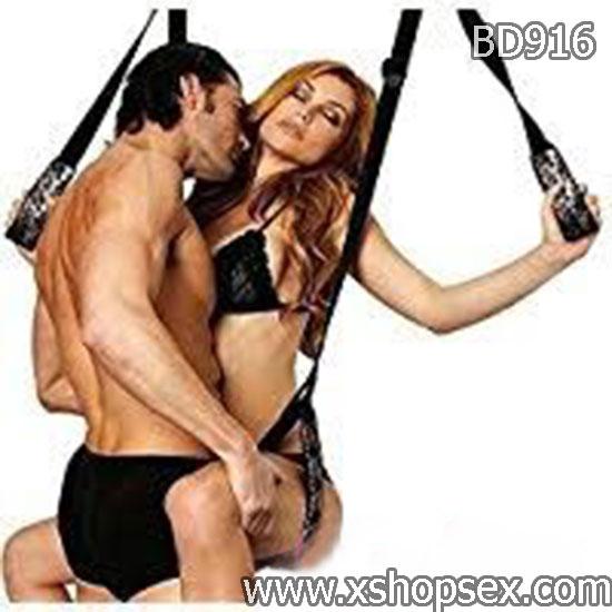 Dung cụ bạo dâm bộ dây treo cửa hỗ trợ quan hệ