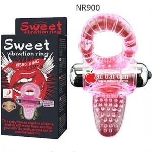 Vòng rung tình yêu Sweet lưỡi có gai kèm cục rung