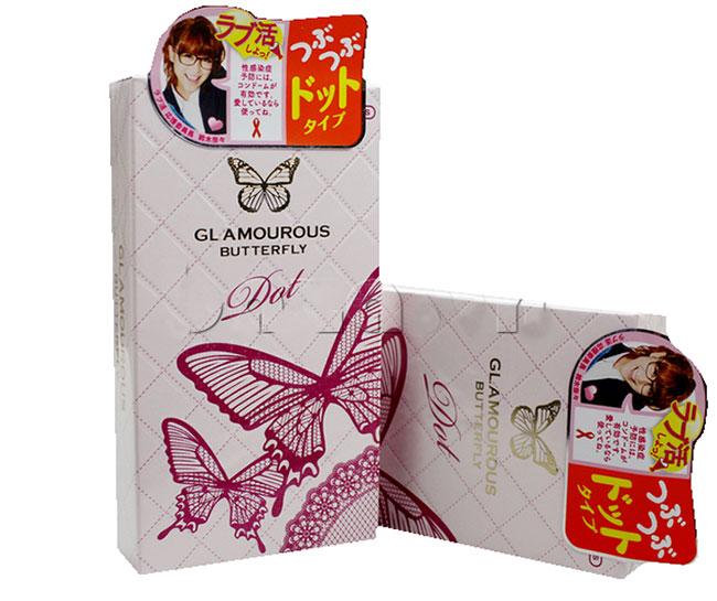 Bao cao su siêu mõng Jex Glamourous Butterfly Dot